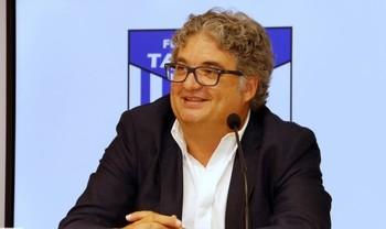 El presidente del Soliss Talavera, Santi Ramos.