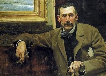 Retrato de Galdós (1894) realizado por Sorolla