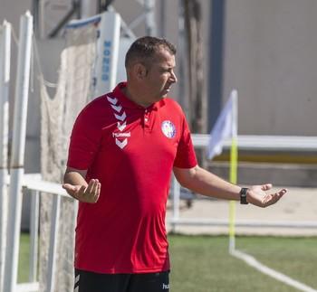 Darío, durante el partido que jugó su equipo en Illescas.
