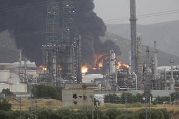 El fuego no afectó a la producción de Repsol