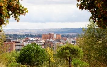 Hospital Clínico visto desde el cerro de Las Contiendas.