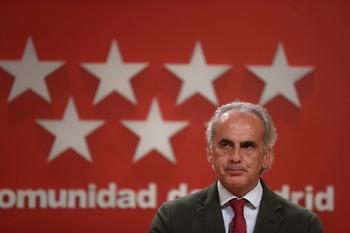 El Consejero de Salud de la Comunidad de Madrid, Enrique Ruiz Escudero