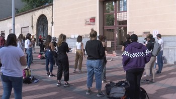 Los estudiantes de Bachillerato Artístico siguen en huelga
