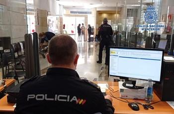 Imagen del servicio del DNI de la Comisaría del Cuerpo Nacional de Policía.