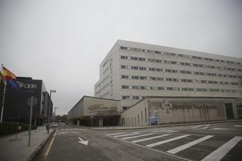 Hospital San Pedro, donde se practicó la donación.