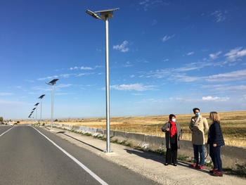 Segovia estrena 13 puntos de luz solar autosuficientes