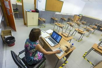 Unos 170 alumnos piden seguir las clases desde casa este año