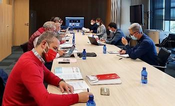 Imagen de archivo de una reunión del Diálogo Social.