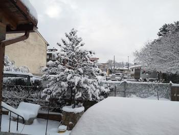 Nieve en Segovia.