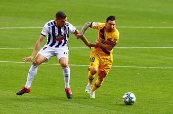 Alcaraz pugna con Messi el pasado sábado.