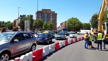 Cortado al tráfico el paseo de Zorrilla en sentido centro
