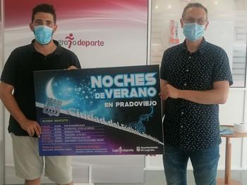 Rubén Antoñanzas (derecha) y Eduardo Gamboa, en la presentación del programa.