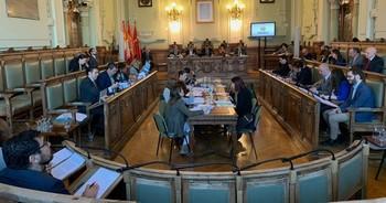 Pleno en el Ayuntamiento de Valladolid.