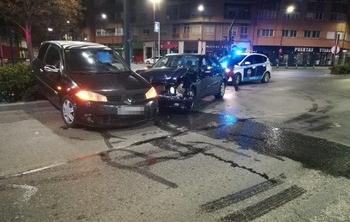 Estado en el que quedaron los dos vehículos implicados.