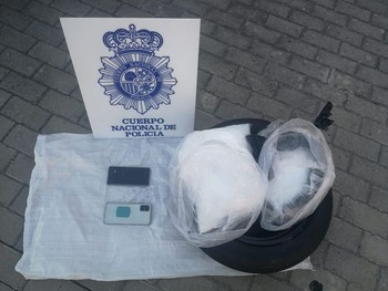 Material incautado por la Policía Nacional en la operación.
