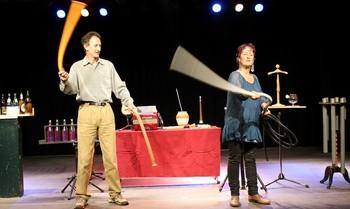 Un espectáculo ofrecido en Logroño, llamado 'Buenas vibraciones'