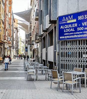 Imagen de un local cerrado en pleno centro de Valladolid.