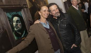 Blanca Suelves ha venido a Toledo a arropar a José María Cano en la inauguración de la exposición.