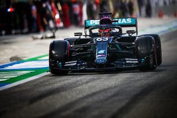Russell, el más rápido con el Mercedes de Hamilton