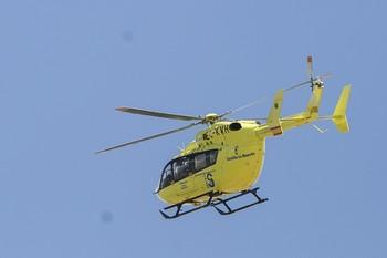 Rescatan en helicóptero a un ciclista en Pico Somosierra