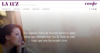 Renfe abre una web de buenas noticias sobre el coronavirus