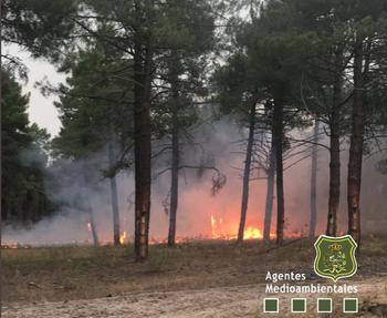 La tormenta provoca al menos cinco incendios en Segovia