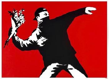 'Lanzador de flores',  de la que Banksy ha perdido los derechos .