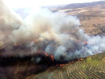 La Junta declara el nivel 1 por un incendio en Salamanca