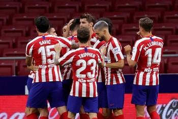 Morata se desquita y el Atlético suma
