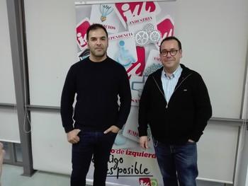 Jesús Manuel Manchón (i) y Juan Ramón Crespo, esta tarde en Puertollano.