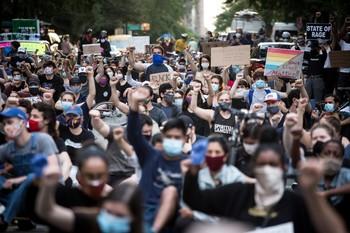 Choques entre manifestantes y Policía en Nueva York