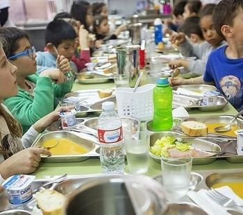 Escolares en un comedor, en una imagen de archivo.