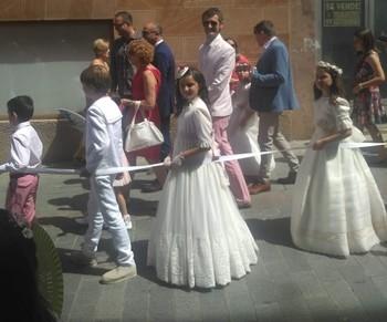 Procesión del Corpus en 2019 en Arnedo.