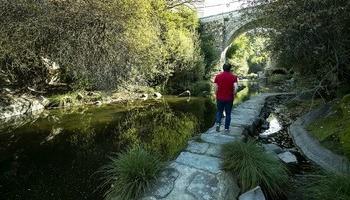 El río Eresma a su paso por San Lorenzo, el pasado viernes.