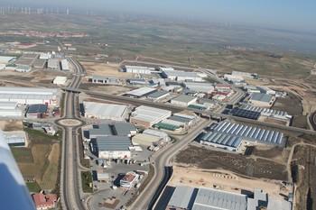Vista aérea del polígono de Villalonquéjar, donde ocurrieron los hechos ahora esclarecidos.
