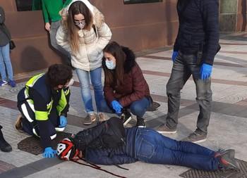 Herido tras sufrir una aparatosa caída en patinete