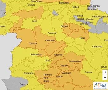 La borrasca Álex trae viento y lluvia este viernes a Burgos