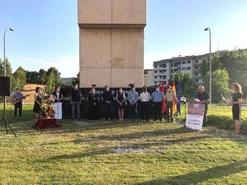 El acto se celebró en en el monumento de la glorieta 'Víctimas del Terrorismo', en la Ronda Oeste