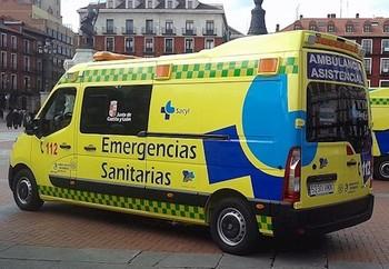 Imagen de un vehículo del Servicio Sanitario 112