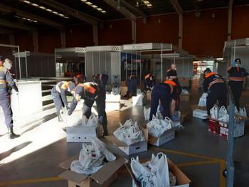 Colectivos,empresas y vecinos donan otros 1.500 kg de comida