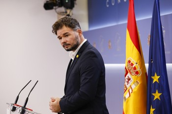 El diputado y portavoz de Esquerra Republicana de Catalunya (ERC), Gabriel Rufián.