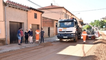 Berlanga de Duero se recupera de la tormenta