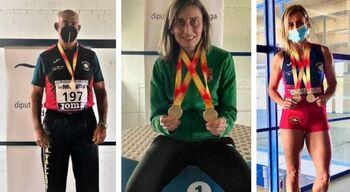 Lluvia de medallas en el Campeonato de España Máster