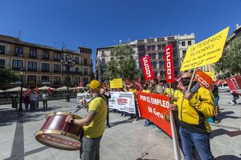 Esta mañana se han concentrado en la plaza de Zocodover, en Toledo.