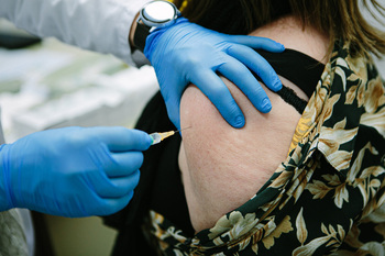 Imagen de una vacunación.