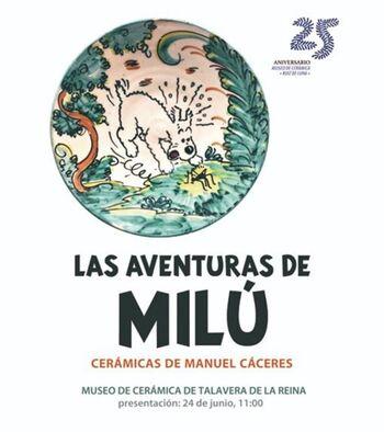 El perro Milú se transforma en cerámica en el Ruiz de Luna