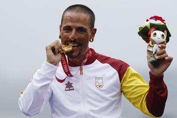 Sergio Garrote, oro en la crono de bicicletas de mano H2