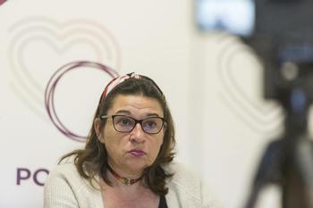 Olga Ávalos, concejala de IU Podemos en el Ayuntamiento de Toledo.