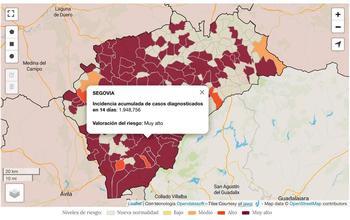 Declarados 32 nuevos brotes en 16 localidades de Segovia