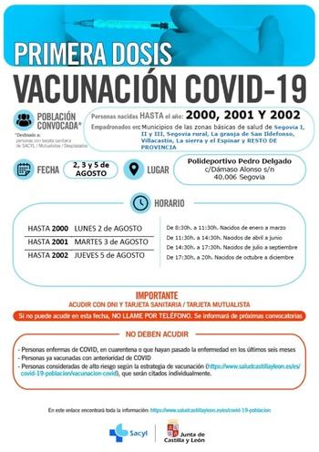 Sanidad llama a vacunarse a los nacidos entre 2000 y 2002